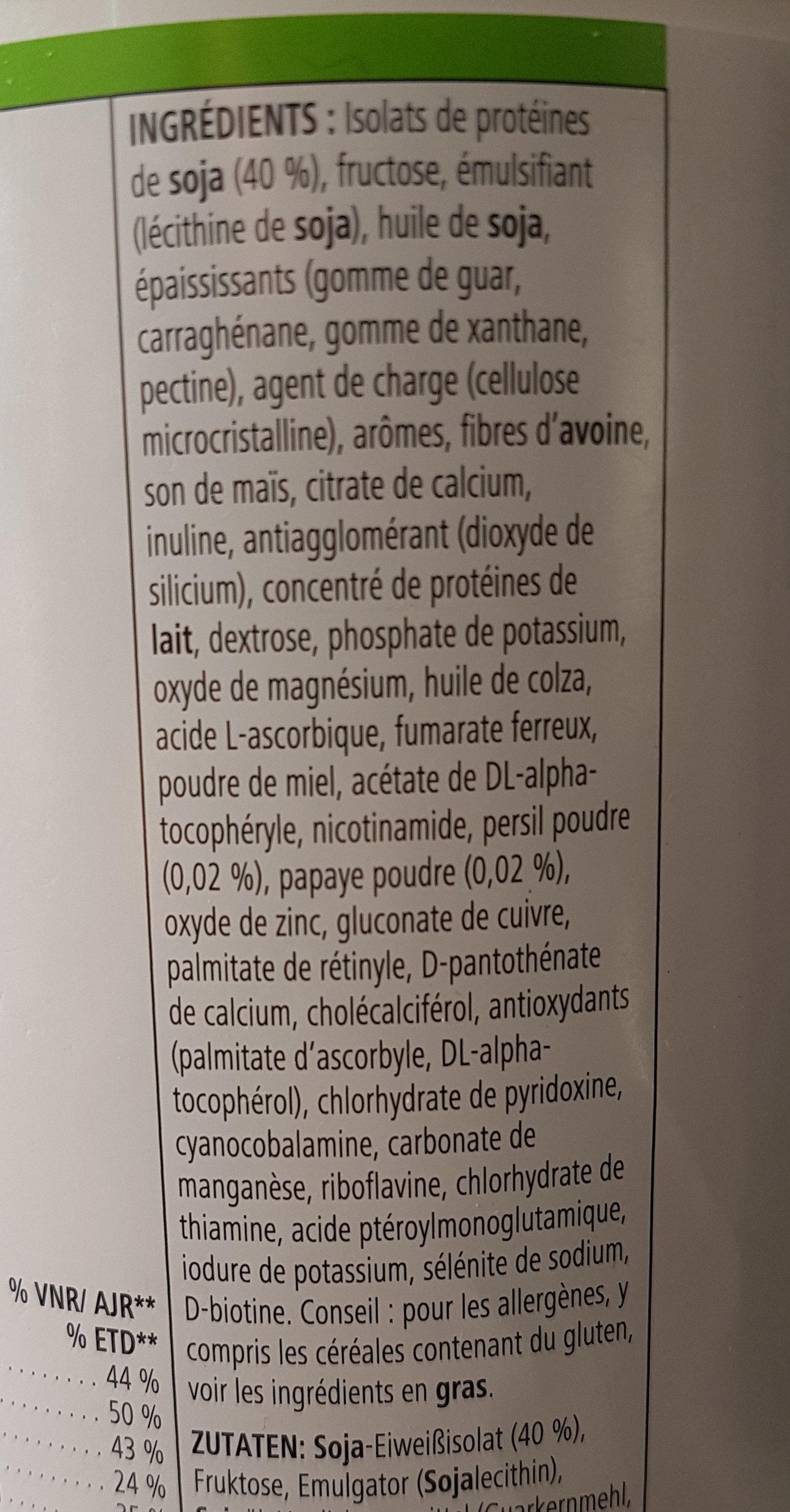 Boisson nutritionnelle vanille creme - Ingredienti - fr