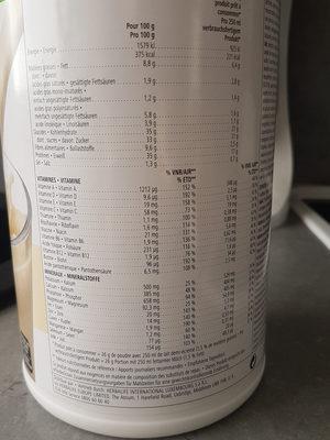 Boisson nutritionnelle vanille creme - Informazioni nutrizionali - fr