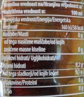 Sola Ice Tea breskev peach - Nutrition facts