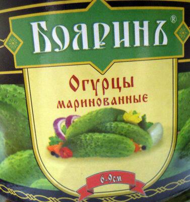 Огурцы маринованные 6-9 см - Produit - ru