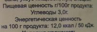Огурцы маринованные 6-9 см - Informations nutritionnelles - ru