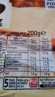 filet de poulet rôti - Informations nutritionnelles