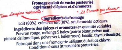 Apérivrais saveurs provençales - poivrons - thym - ciboulette - Ingredients - fr