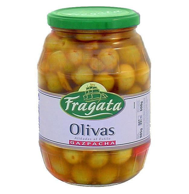 """Aceitunas verdes partidas aliñadas a la gazpacha """"Fragata"""" - Producto - es"""
