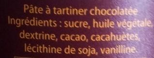 Chocopain - Ingredients - fr