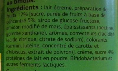 Bifidus brassé aux fruits - Ingrédients - fr