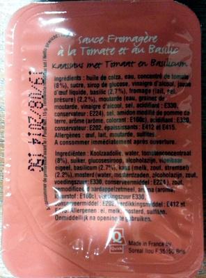 Sauce Fromagère à la Tomate et au Basilic - Produit - fr