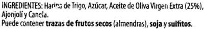 """Mantecados de Aceite de Oliva """"La Muralla"""" - Ingredients"""