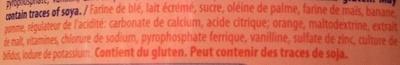 CERELAC, Céréale infantile lactée - Ingrediënten - fr