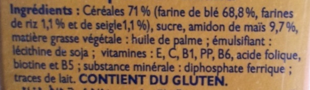 Blédine Multicéréales - Ingrédients