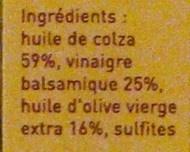 Vinaigrette - Ingredients - fr