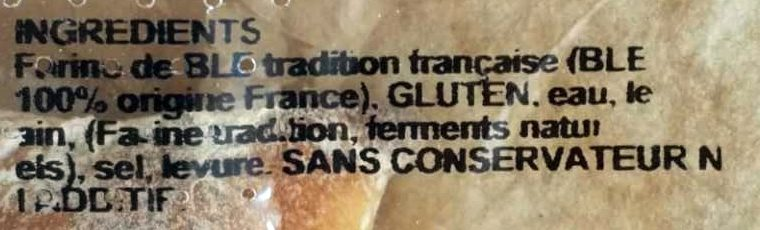 Pain Tradition - Ingredienti - fr