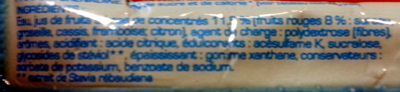 Grenadine 0% sucre - Ingrédients - fr