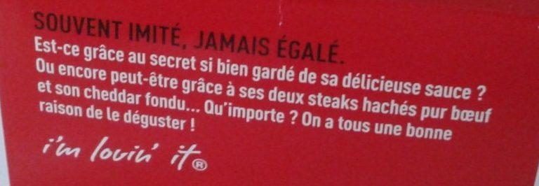 Big Mac - Ingrediënten