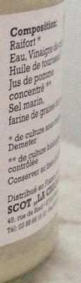 Raifort - Ingrédients - fr