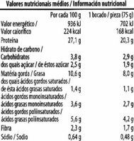 Salchichas vegetales de tofu - Informations nutritionnelles