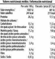 Escalopes vegetales de soja - Nutrition facts