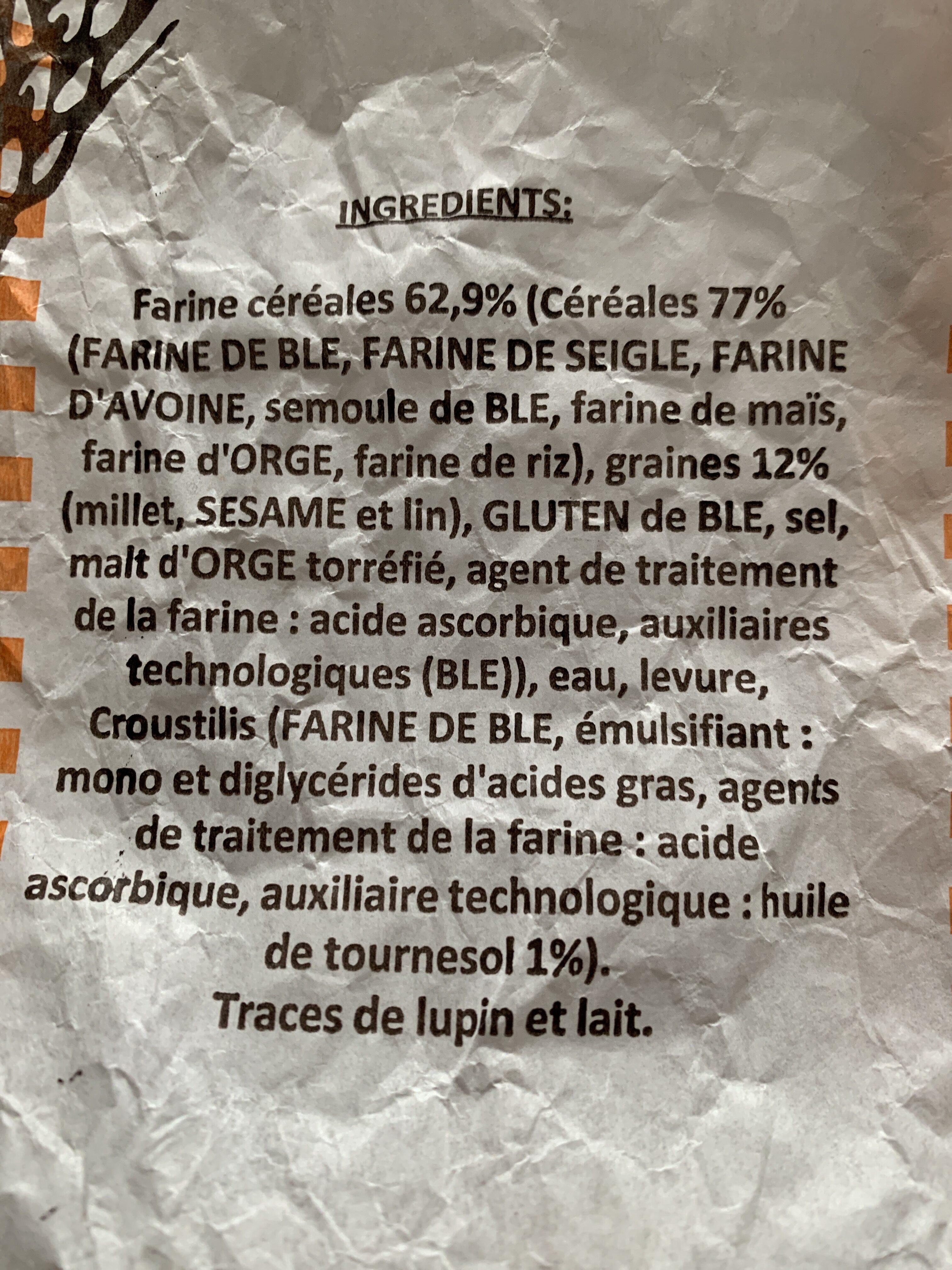 Baguette aux céréales - Ingredienti - fr