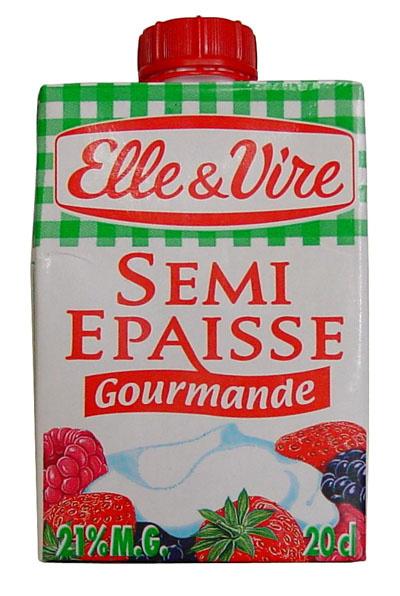 Crème Semi Epaisse Gourmande 21% M.G. - Product