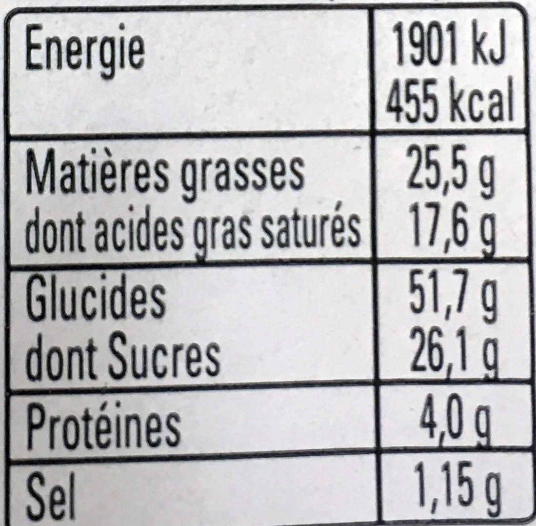 Kouign Amann Pur Beurre - Nutrition facts