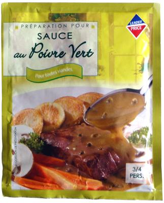 Préparation pour sauce au Poivre vert pour toutes viandes - Produit