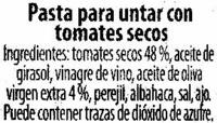 Bruschetta con tomates - Ingredientes - es