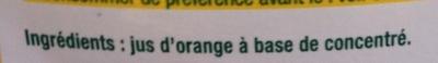 Jus d'orange à base de concentré - Ingrédients - fr