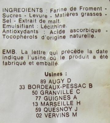 54 biscottes - Ingrediënten