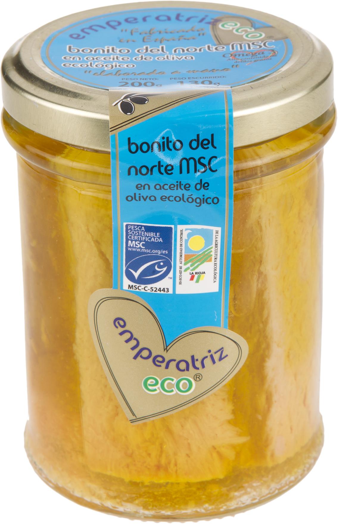 Bonito del norte MSC en aceite de oliva ecológico - Producte - es