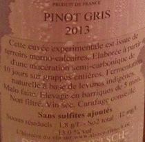 Quand le chat n'est pas là - Pinot Gris 2013 - Ingrédients - fr