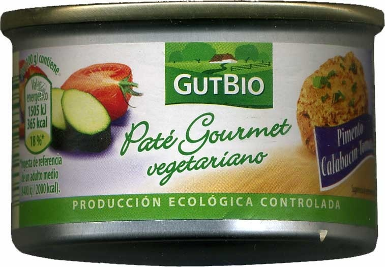 Paté vegetariano Pimiento Calabacín Tomate - Product - es