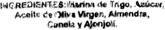 """Mantecados de aceite de oliva """"La Vicaría"""" - Ingredientes - es"""