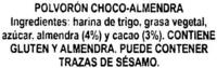 """Polvorones de chocolate con grasa vegetal """"La Flor de Antequera"""" - Ingredientes - es"""