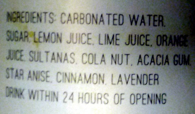 Dalston Cola - Ingrediënten - en