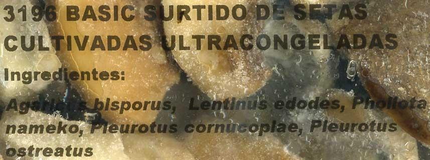 Mezcla de setas congeladas - Ingredientes