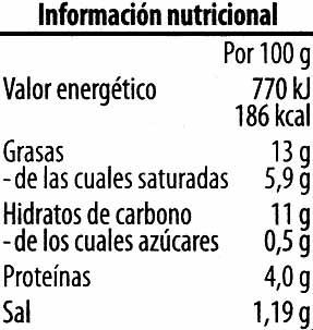 Paté vegetariano Champiñón Shiitake - Información nutricional - es