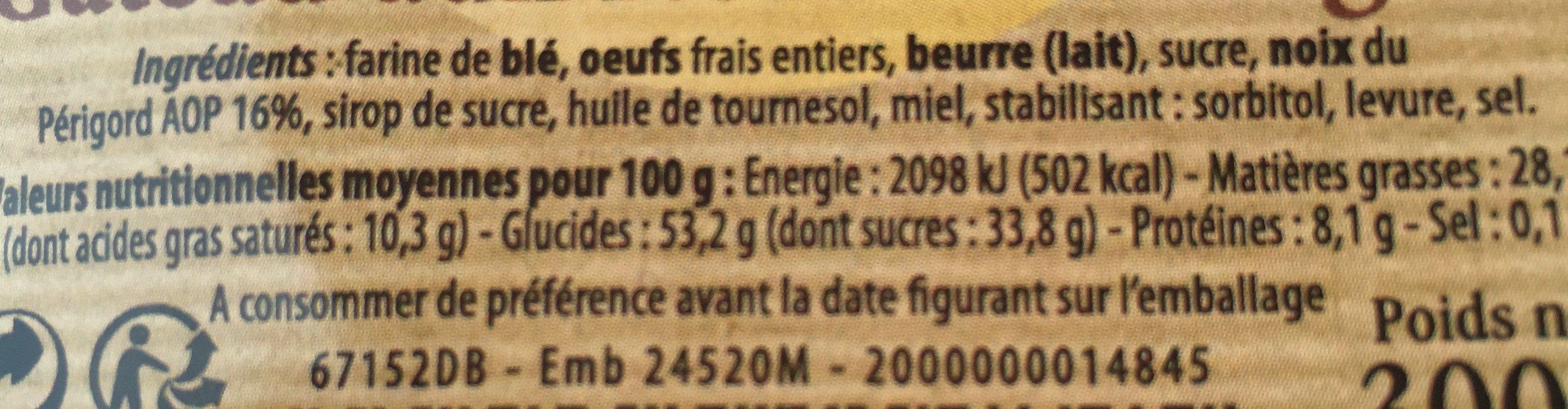 Gateau au noix du perigord - Ingredients - fr