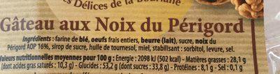 Gateau au noix du perigord - Nutrition facts - fr