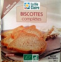 Biscottes complètes sans sucres ajoutés - Product - fr