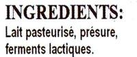 Fromage blanc de campagne égoutté en sac 6% de MG - Ingrédients - fr