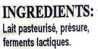 La Faisselle de Sigy - Ingrédients - fr