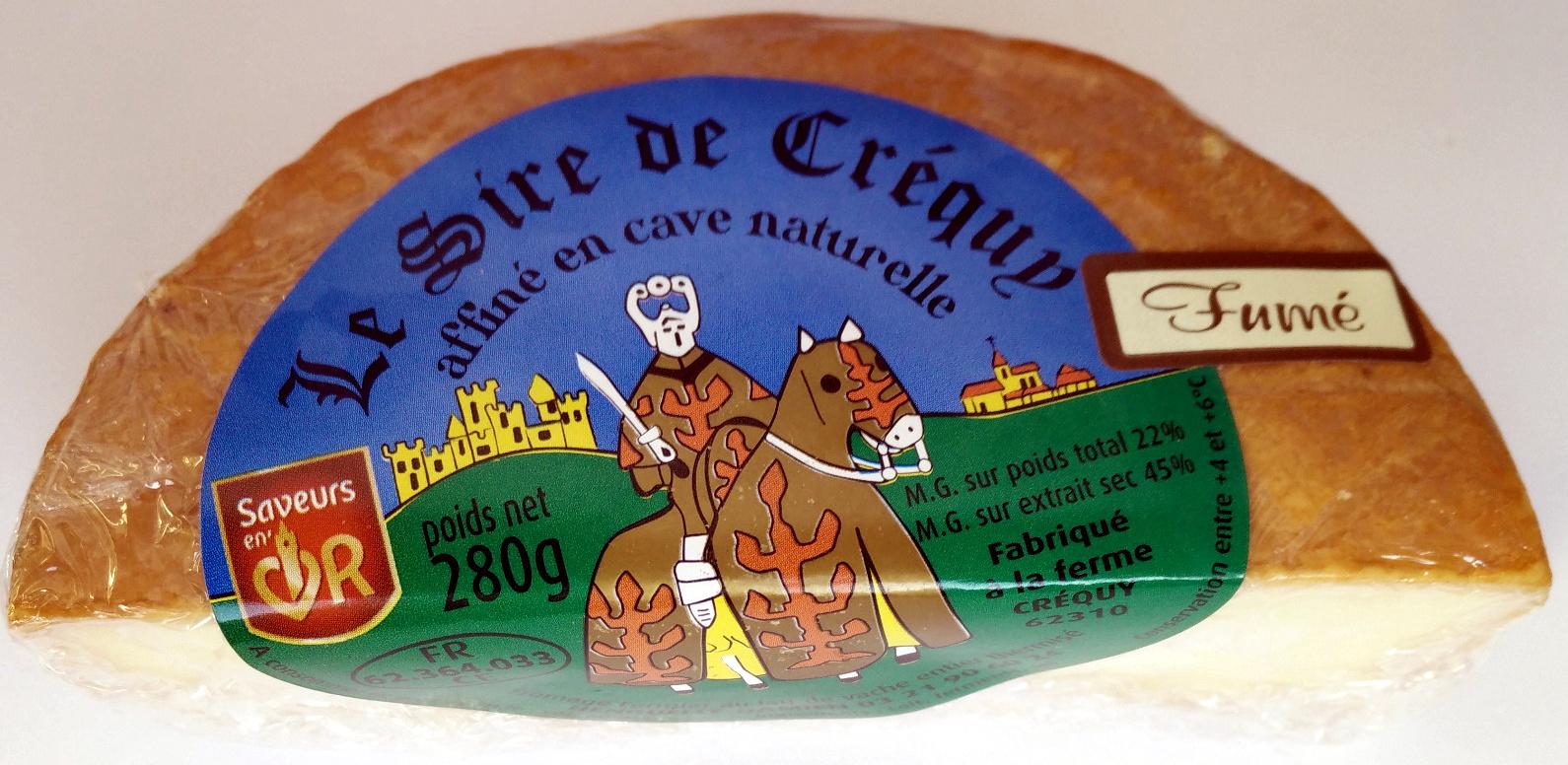 Le Sire de Créquy affiné en cave naturelle Fumé (22% MG) - Produit - fr