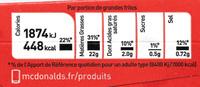 Grande Frite - Voedingswaarden - fr