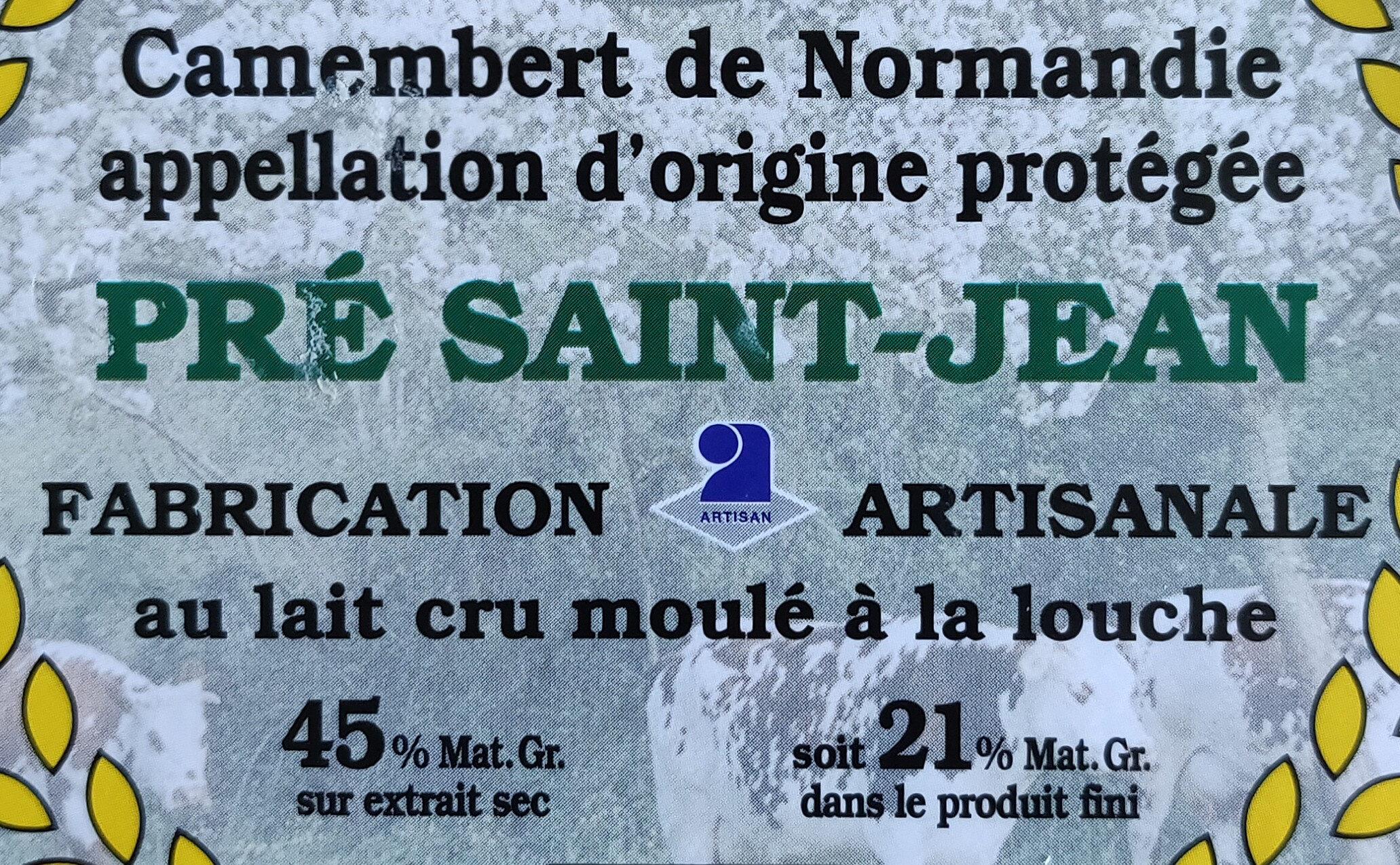 Camembert de Normandie Pré Saint-Jean - Ingredients - fr
