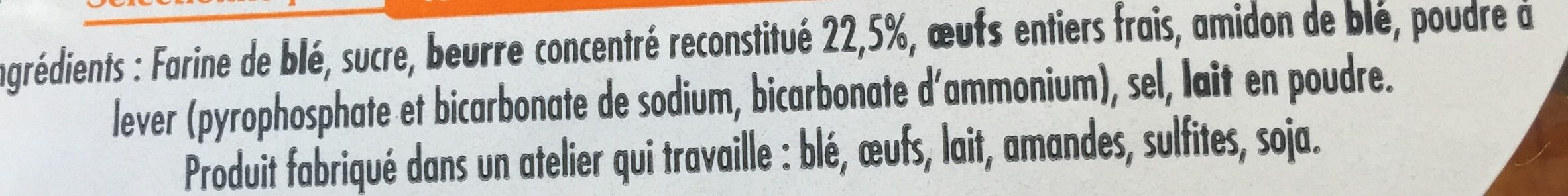 Pt'it Beurre Breton Nature - Ingrédients - fr