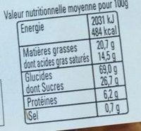Pt'it Beurre Breton Nature - Informations nutritionnelles - fr