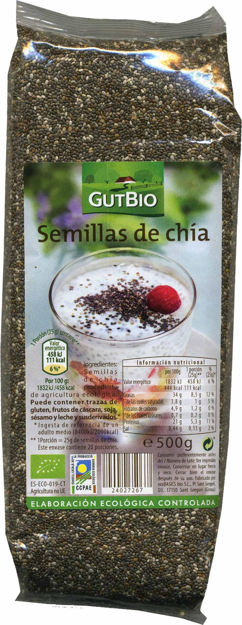 Semillas de chía - Producte - es
