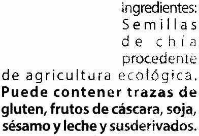 Semillas de chía - Ingredients - es
