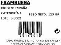 Frambuesas - Ingredientes