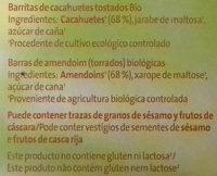 Barritas crujientes cacahuete - Ingredientes - es